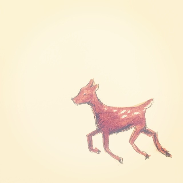 Oh deer. Working on a little something for @besmallstudios - inspiration is everywhere this week.