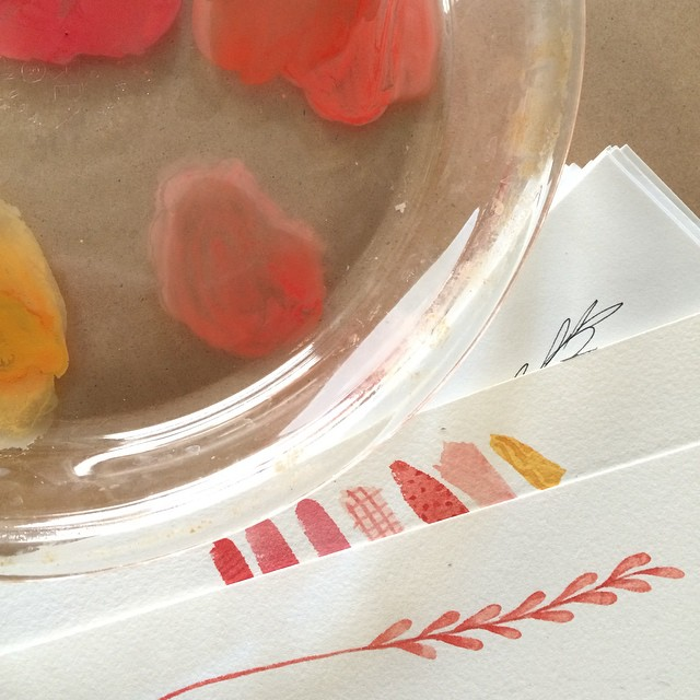 So many folks posting Christmas and Advent photos, but I'm still solidly in summer tones here. Embracing the present, cheering on those making such lovely art for next season. You inspire, @naptimediaries @lindsay_letters @yellowbungalowshop