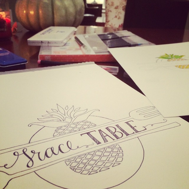 Loved working on art for @grace_table and today their new site launches. Follow along (and submit your own writing!) if you're longing to talk about making space at the table and exploring hospitality. Love this space.