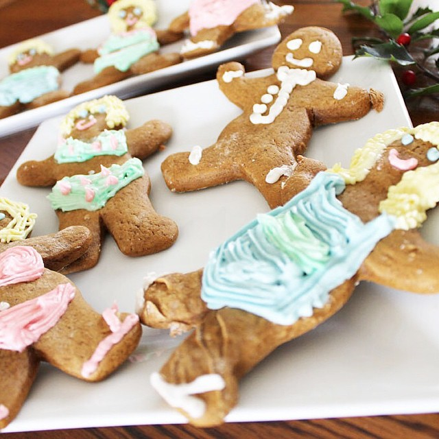 Do you follow @grace_table? I'm sharing over there today about our family's fabulously weird traditions. (Spoiler alert: our gingerbread wear bikinis.)